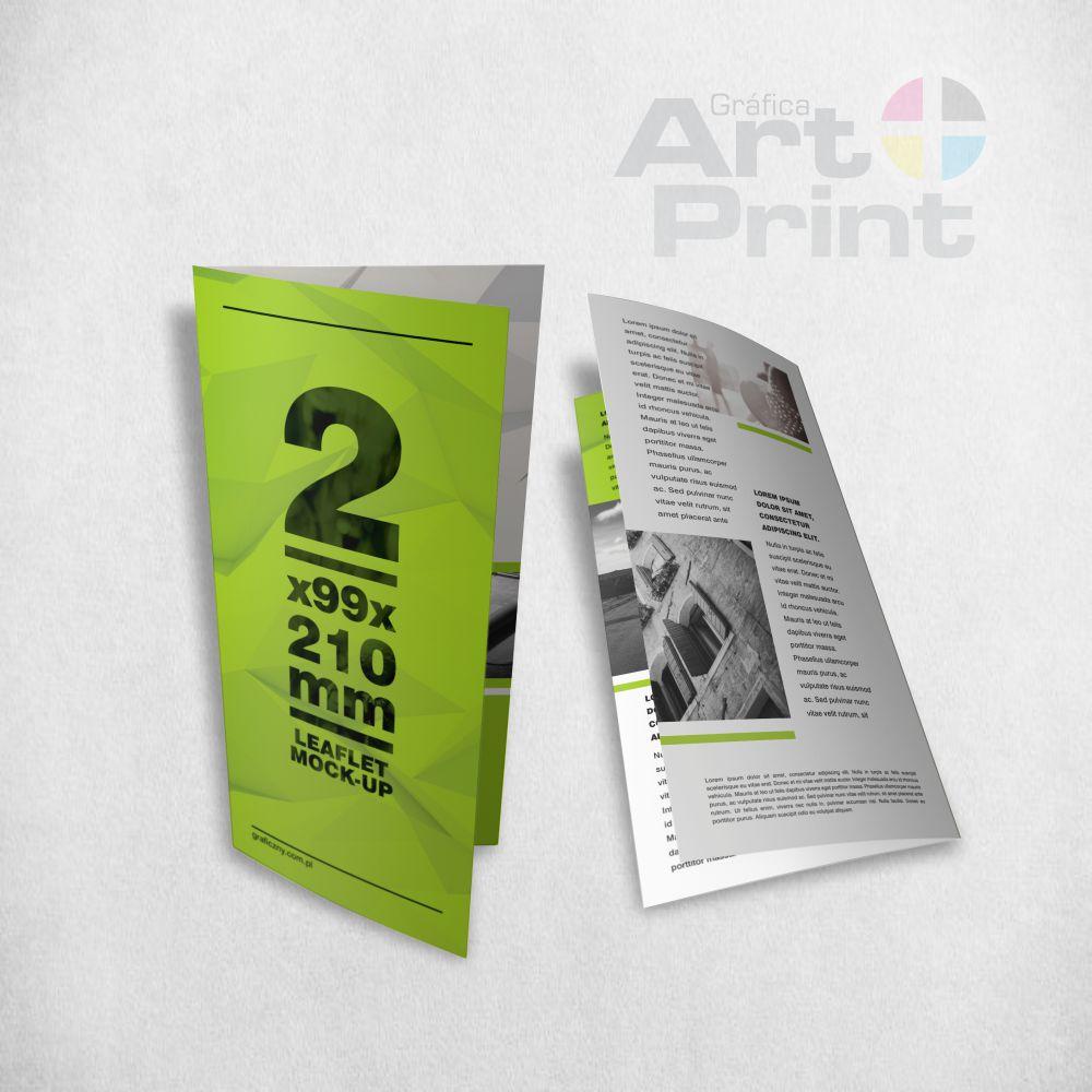 Folder impresso frente e verso